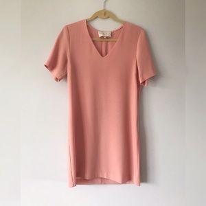 Charles Henry Pink Short Sleeve Dress